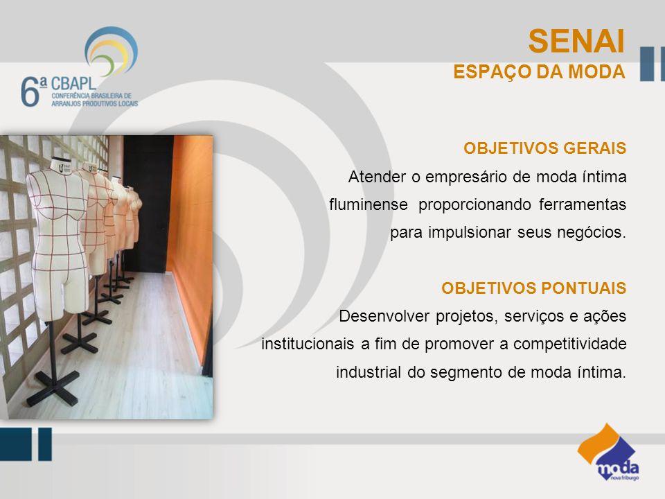 SENAI ESPAÇO DA MODA OBJETIVOS GERAIS