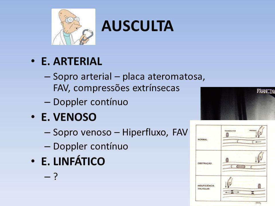 AUSCULTA E. ARTERIAL E. VENOSO E. LINFÁTICO