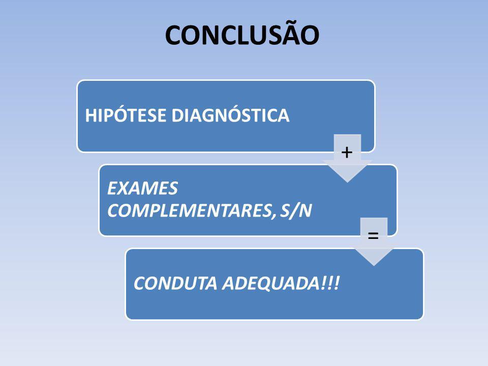 CONCLUSÃO HIPÓTESE DIAGNÓSTICA EXAMES COMPLEMENTARES, S/N