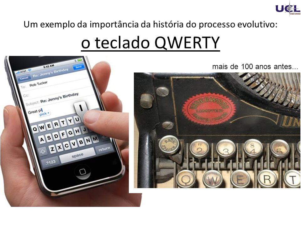 Um exemplo da importância da história do processo evolutivo: o teclado QWERTY
