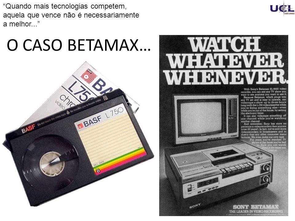 Quando mais tecnologias competem, aquela que vence não é necessariamente a melhor...