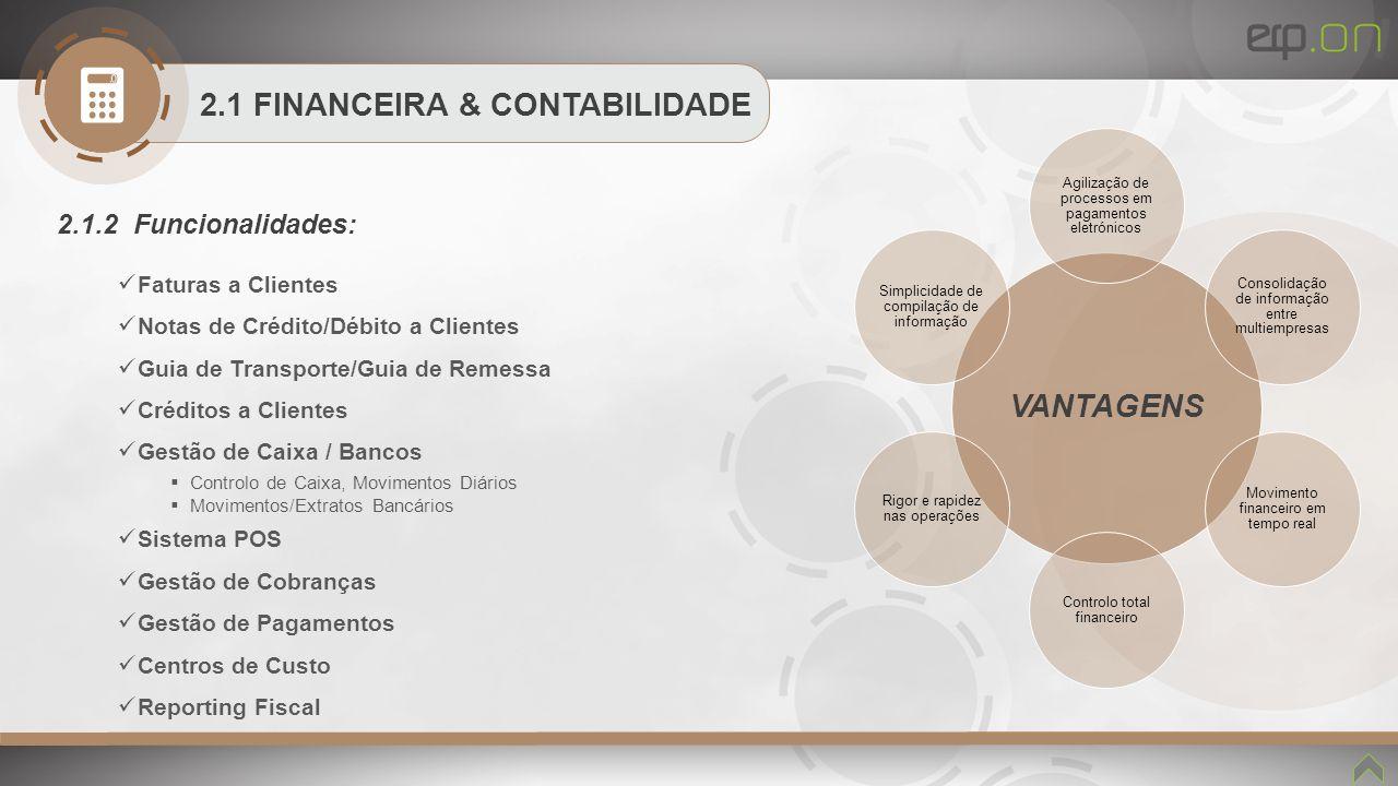 2.1 FINANCEIRA & CONTABILIDADE VANTAGENS