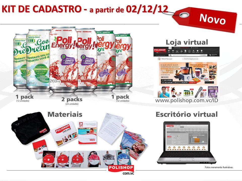 KIT DE CADASTRO - a partir de 02/12/12