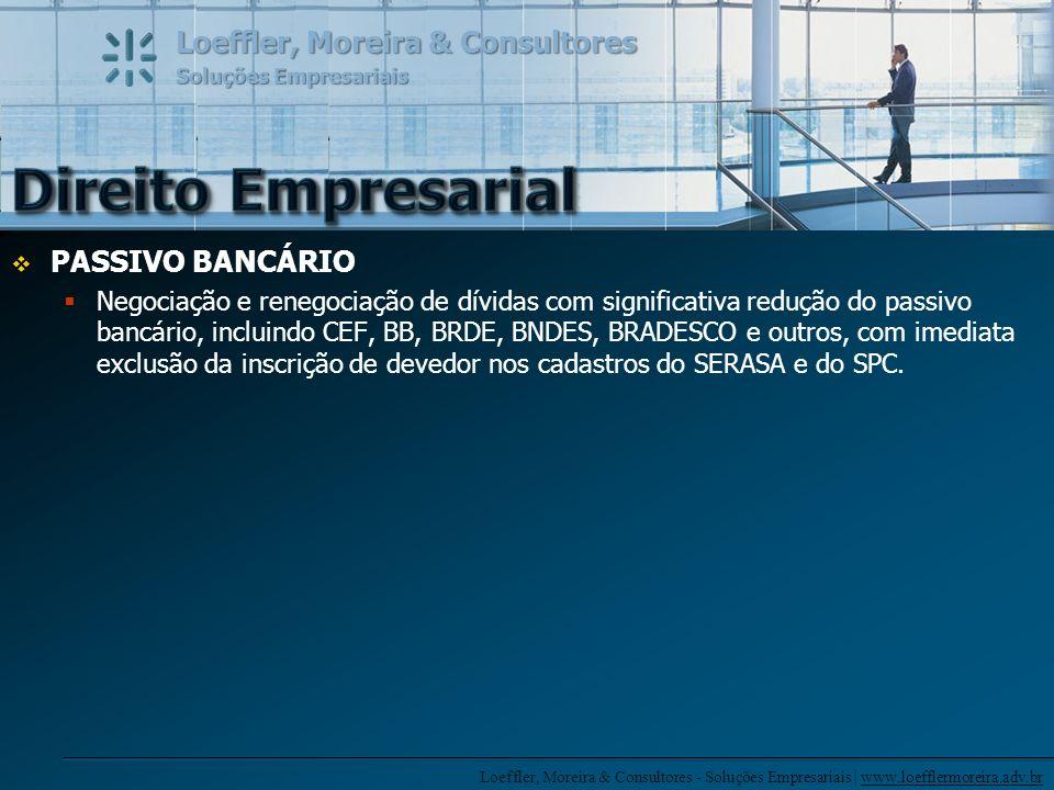 Direito Empresarial PASSIVO BANCÁRIO