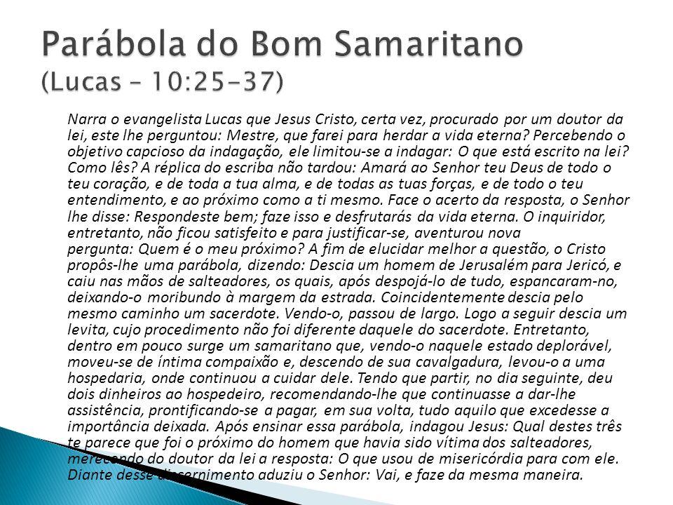 Parábola do Bom Samaritano (Lucas – 10:25-37)
