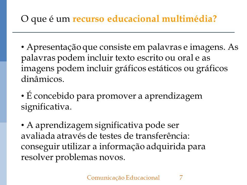 O que é um recurso educacional multimédia