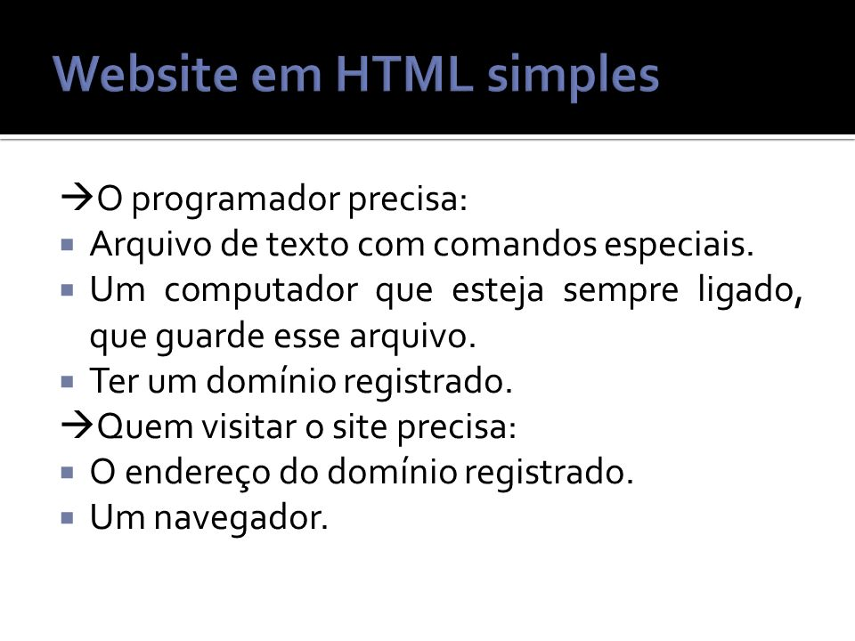Website em HTML simples