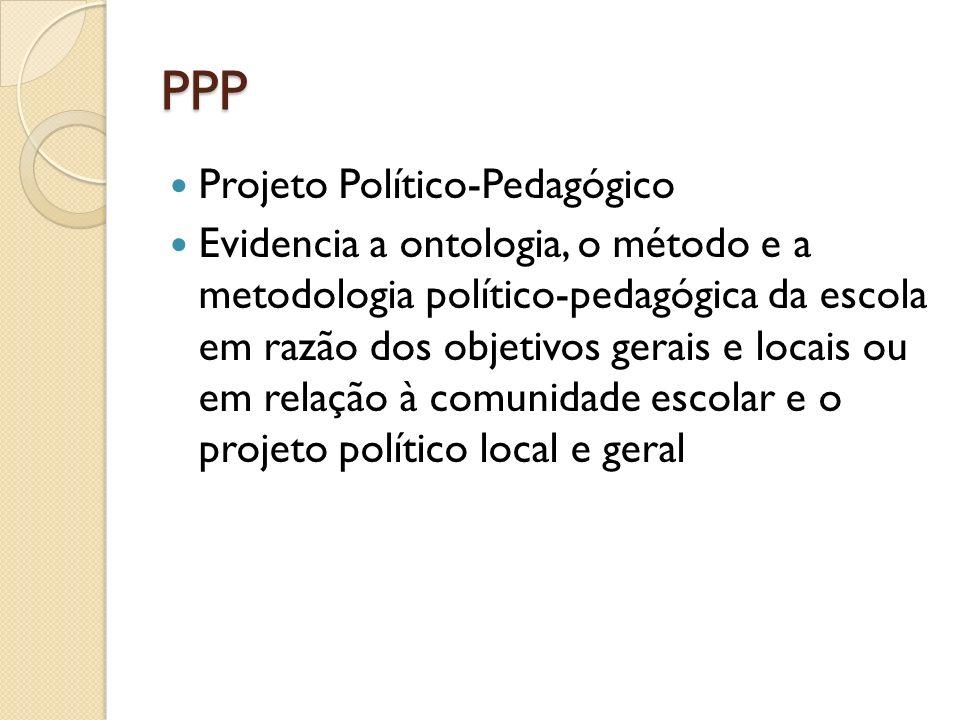 PPP Projeto Político-Pedagógico