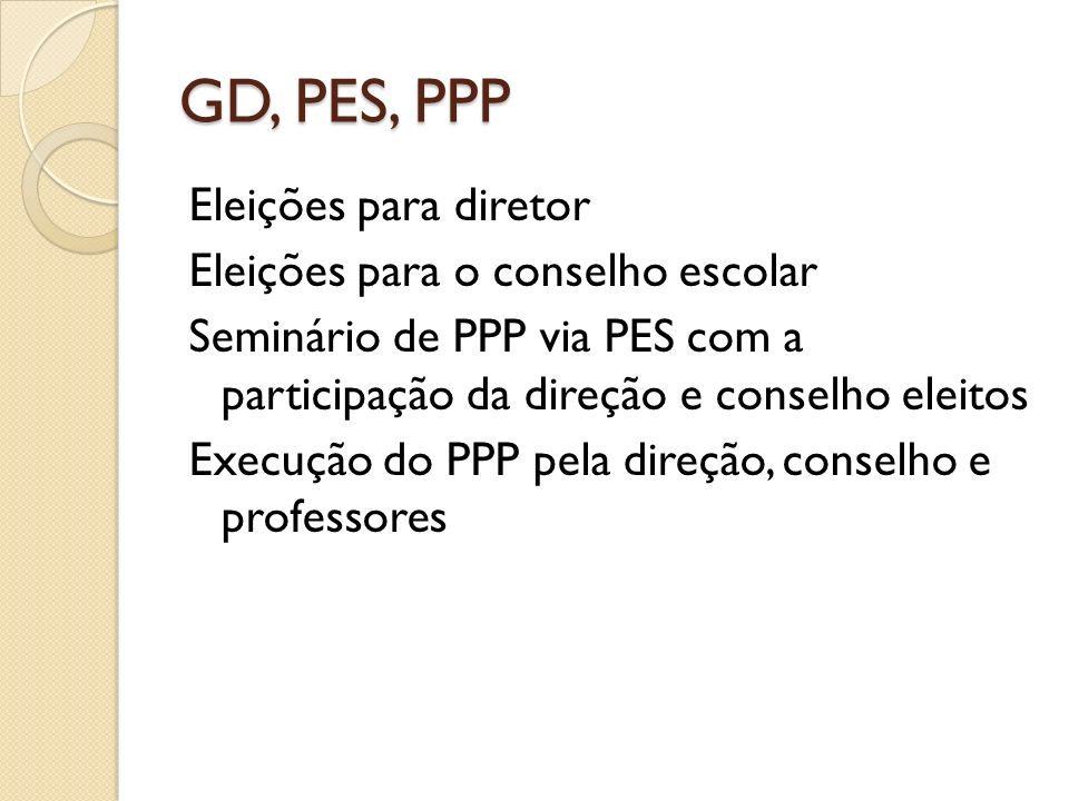 GD, PES, PPP
