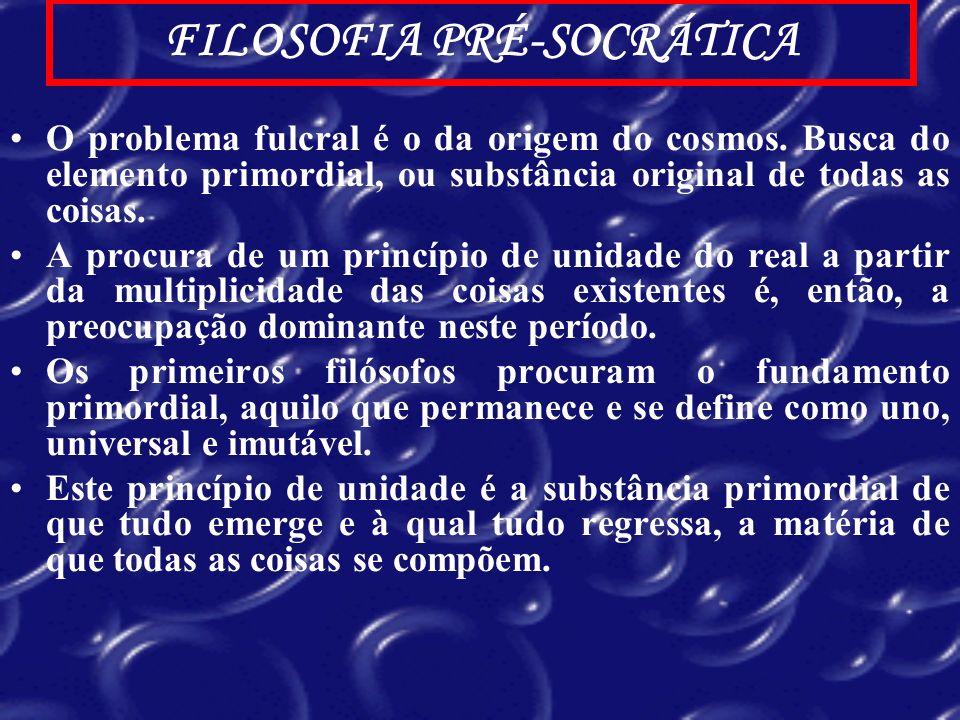 FILOSOFIA PRÉ-SOCRÁTICA