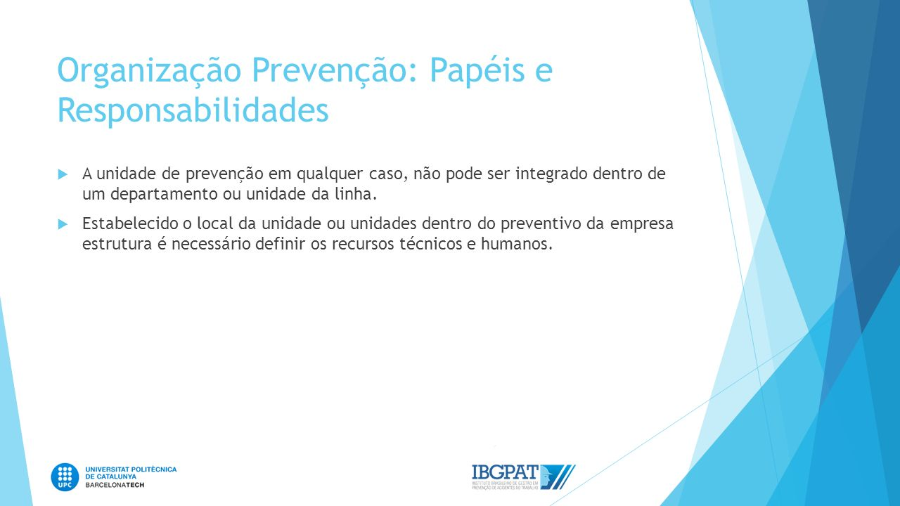 Organização Prevenção: Papéis e Responsabilidades