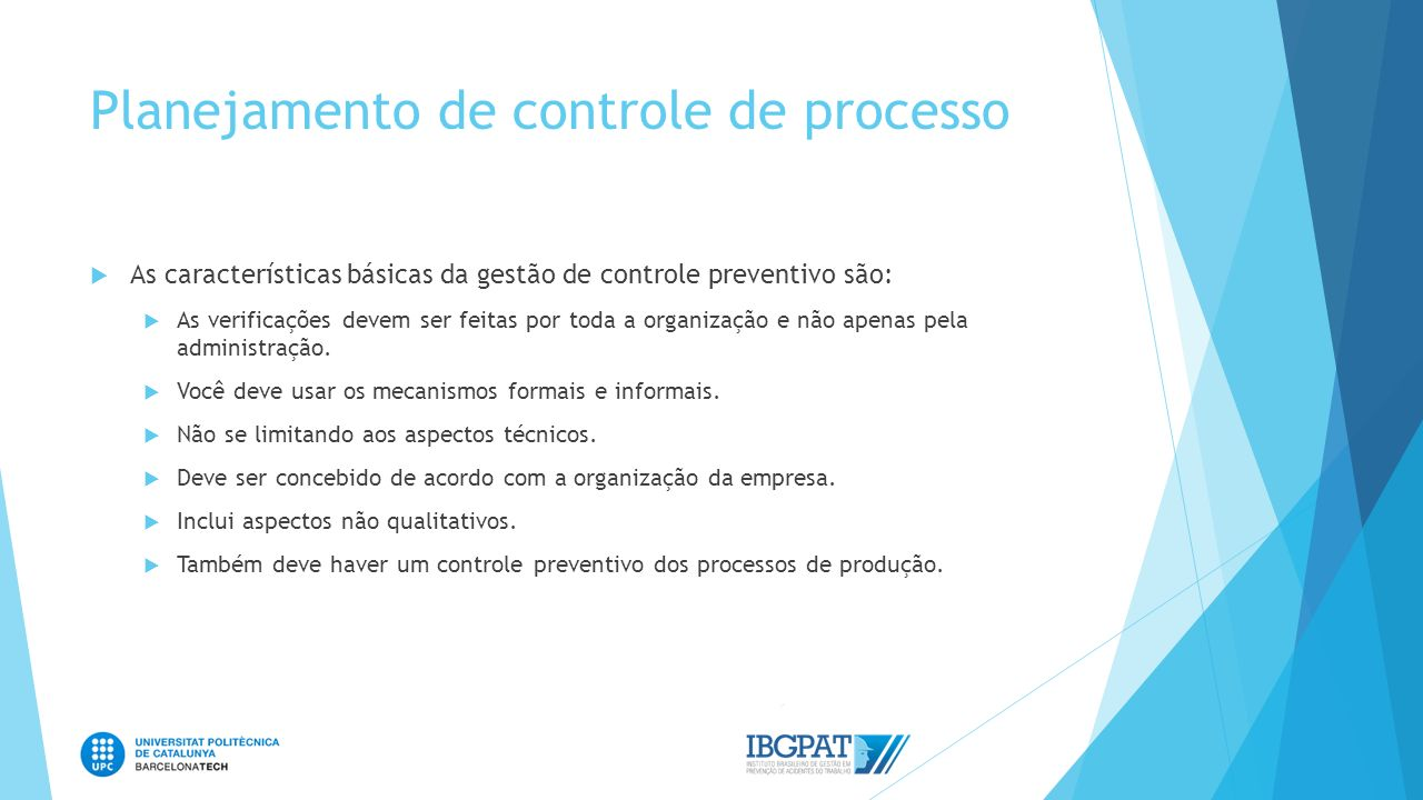 Planejamento de controle de processo