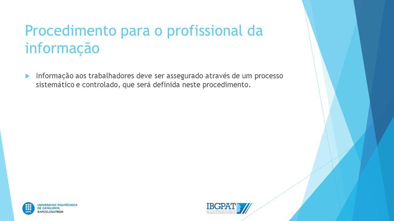 Procedimento para o profissional da informação