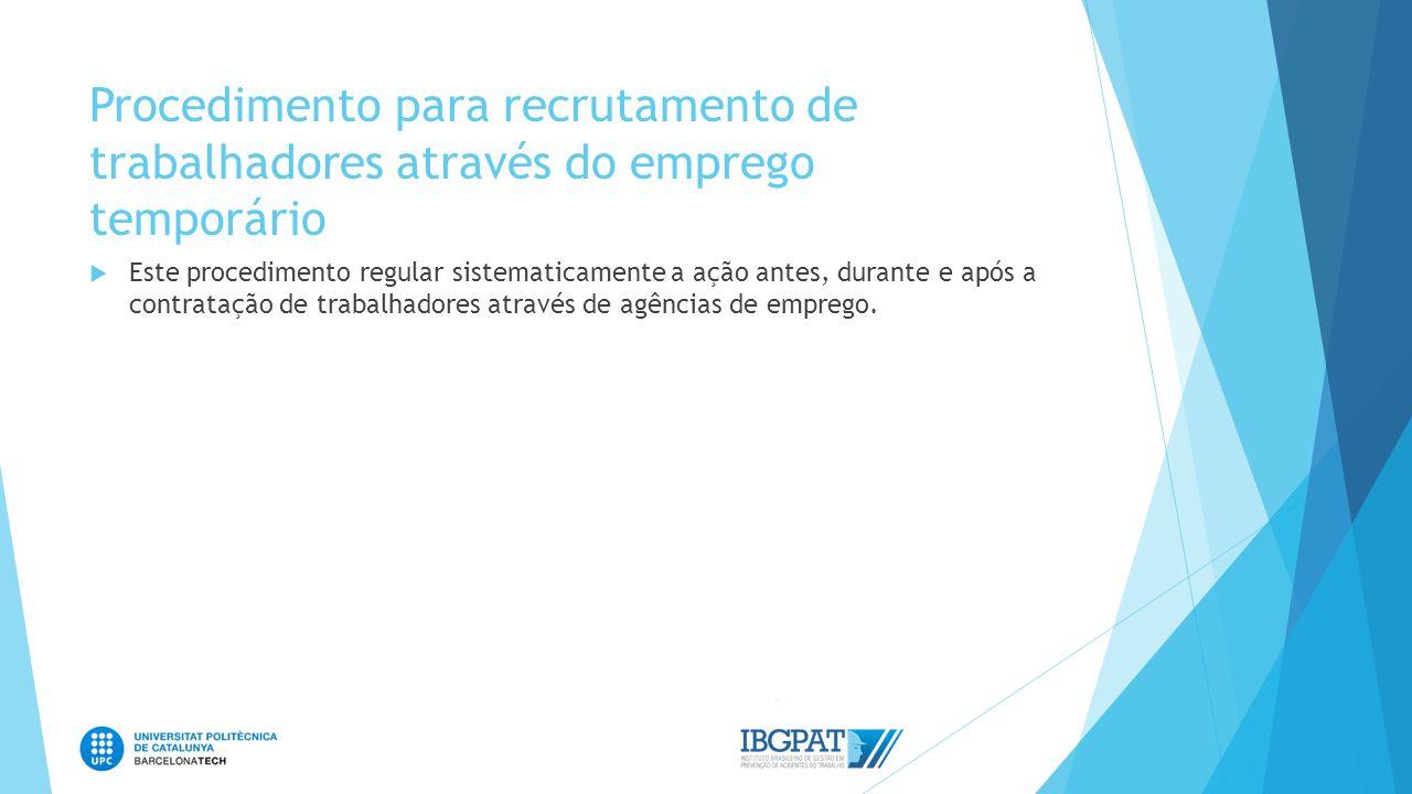 Procedimento para recrutamento de trabalhadores através do emprego temporário