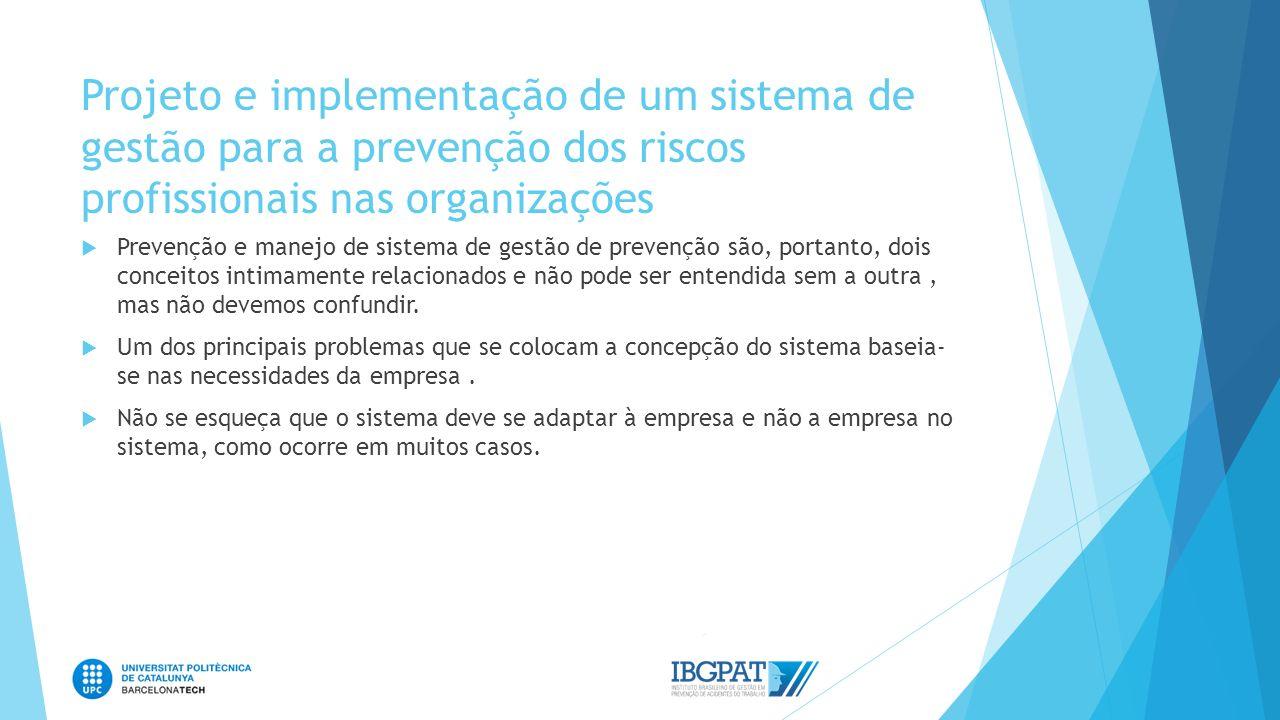 Projeto e implementação de um sistema de gestão para a prevenção dos riscos profissionais nas organizações