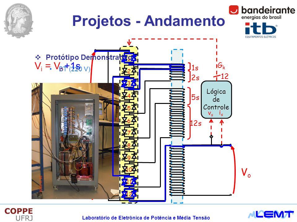 Projetos - Andamento Vo Vi = Vo +1s Protótipo Demonstrativo Gk 1s 2s