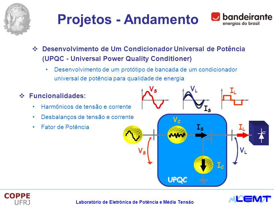 Projetos - Andamento Desenvolvimento de Um Condicionador Universal de Potência (UPQC - Universal Power Quality Conditioner)