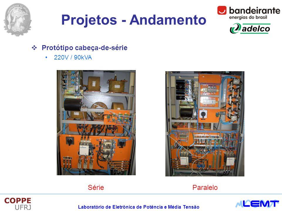 Projetos - Andamento Protótipo cabeça-de-série Série Paralelo