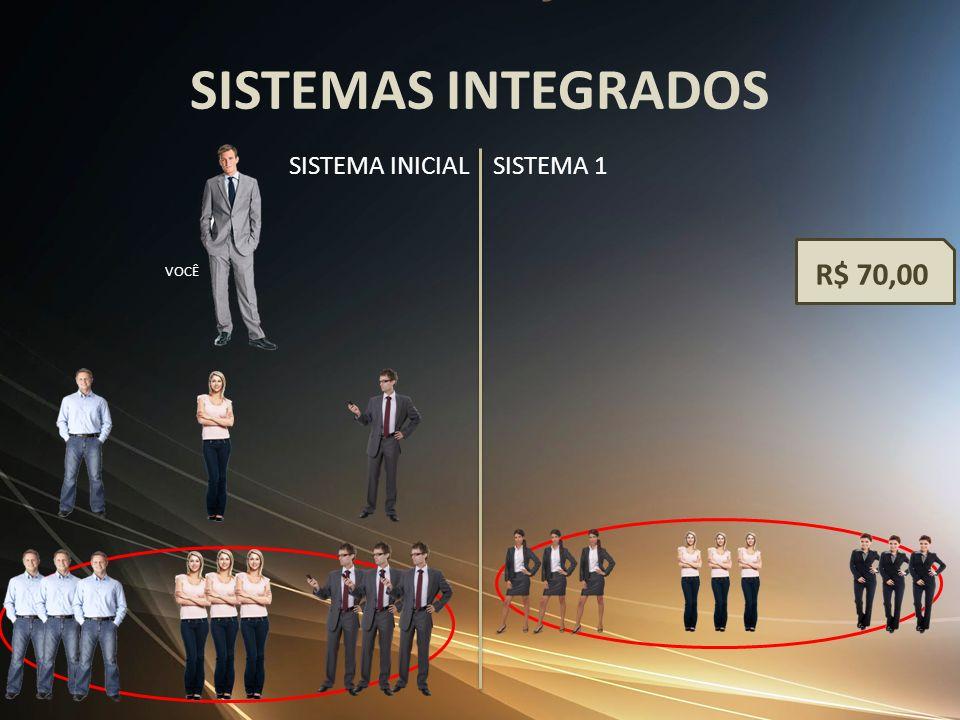 SISTEMAS INTEGRADOS SISTEMA INICIAL SISTEMA 1 R$ 70,00 VOCÊ