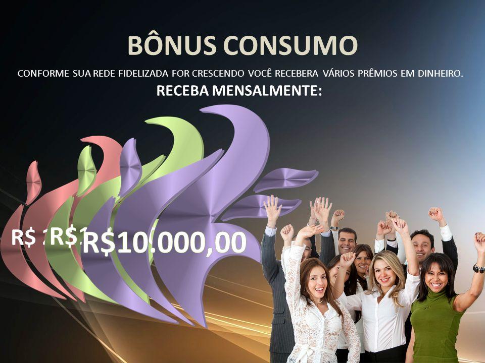 R$10.000,00 BÔNUS CONSUMO R$1.700,00 R$ 285,00 RECEBA MENSALMENTE: