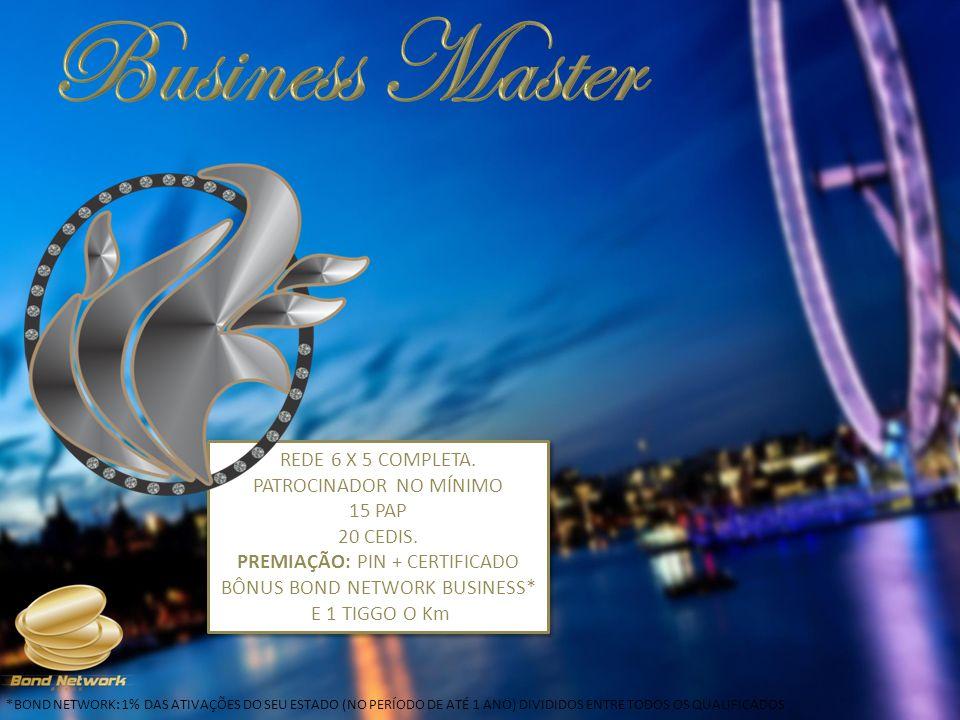 Business Master REDE 6 X 5 COMPLETA. PATROCINADOR NO MÍNIMO 15 PAP