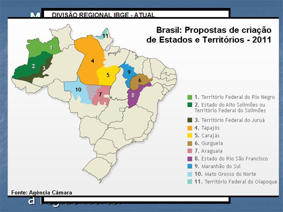 Modificações que resultaram na atual regionalização: