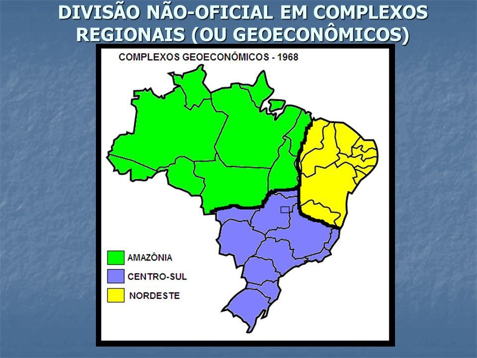 DIVISÃO NÃO-OFICIAL EM COMPLEXOS REGIONAIS (OU GEOECONÔMICOS)