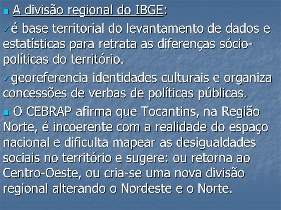 A divisão regional do IBGE: