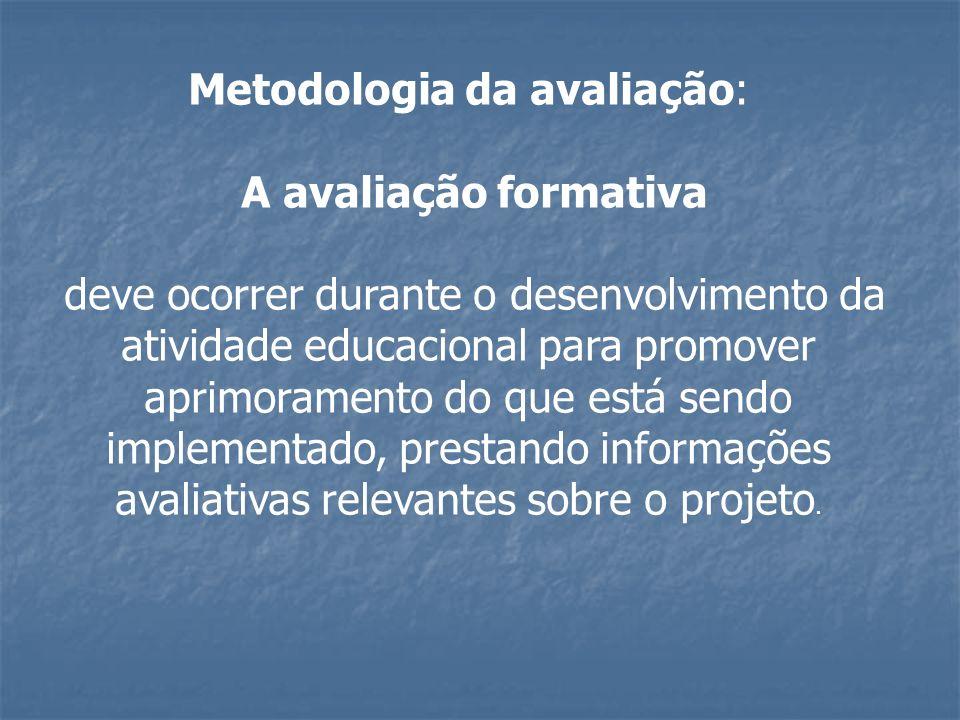 Metodologia da avaliação:
