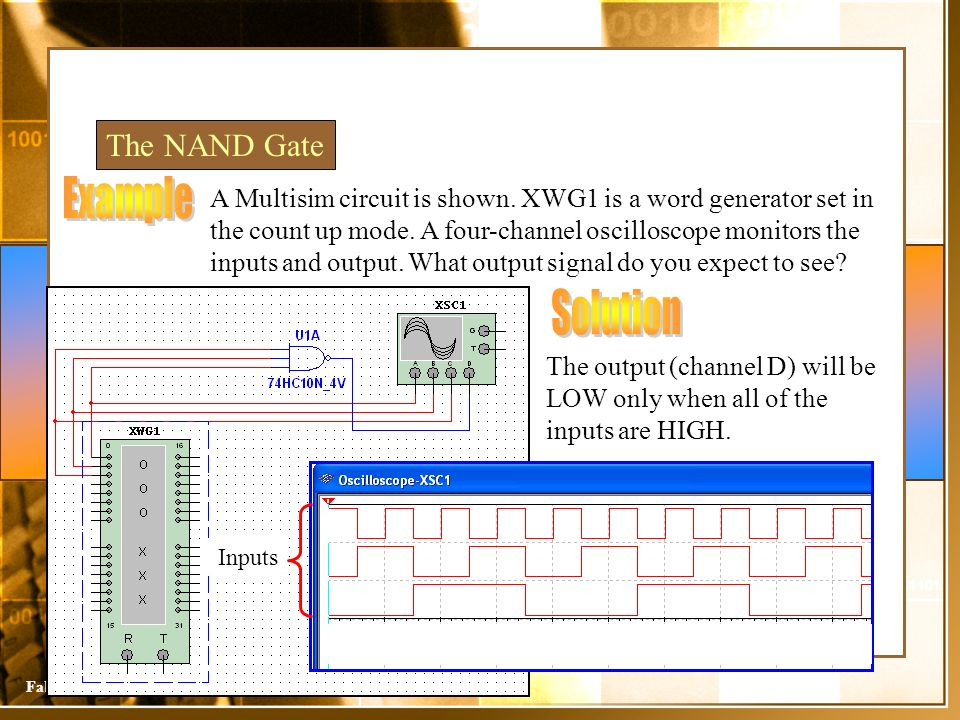Example Solution The NAND Gate