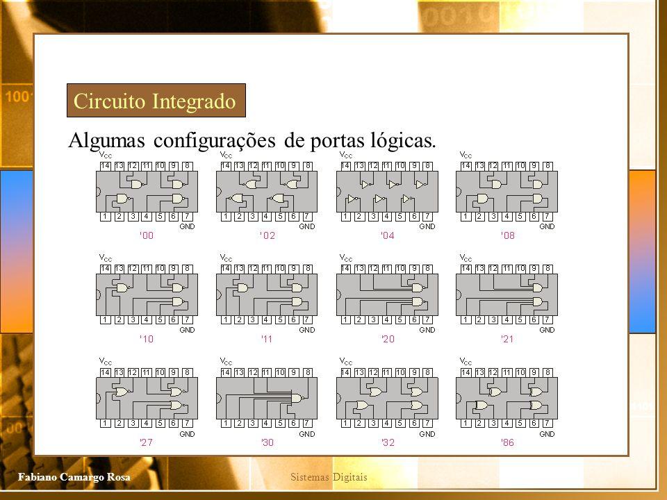 Circuito Integrado Algumas configurações de portas lógicas.