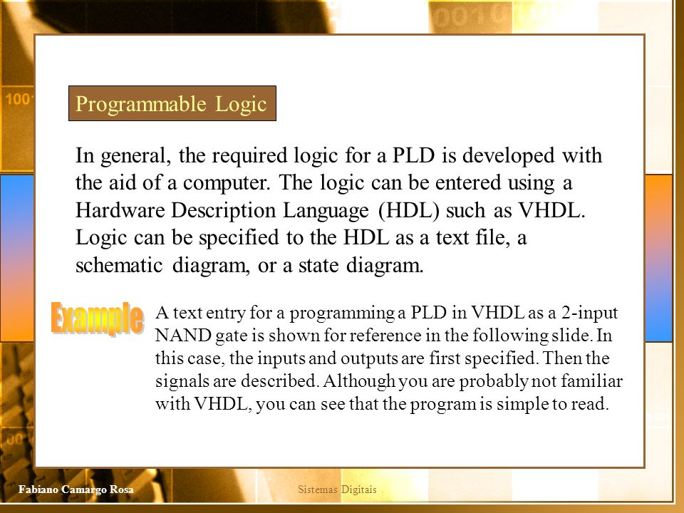 Example Programmable Logic