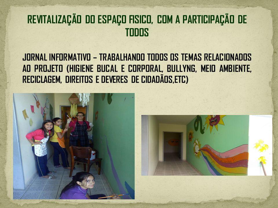 REVITALIZAÇÃO DO ESPAÇO FISICO, COM A PARTICIPAÇÃO DE TODOS
