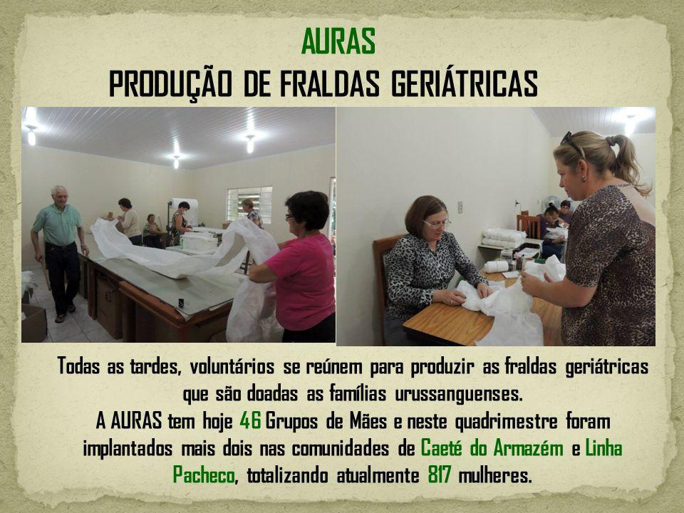 PRODUÇÃO DE FRALDAS GERIÁTRICAS