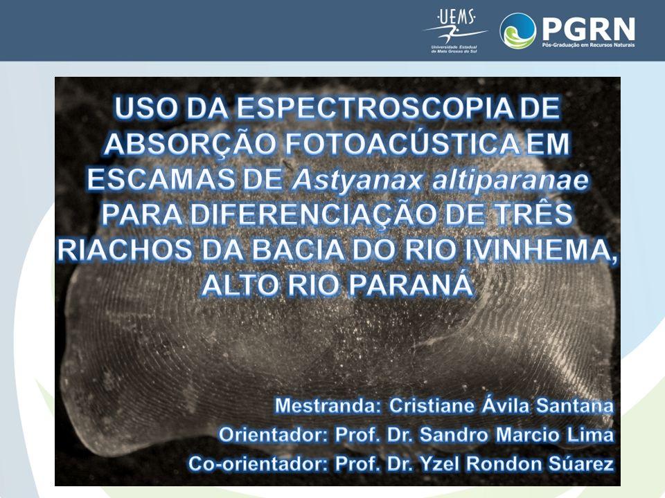 USO DA ESPECTROSCOPIA DE ABSORÇÃO FOTOACÚSTICA EM ESCAMAS DE Astyanax altiparanae PARA DIFERENCIAÇÃO DE TRÊS RIACHOS DA BACIA DO RIO IVINHEMA, ALTO RIO PARANÁ