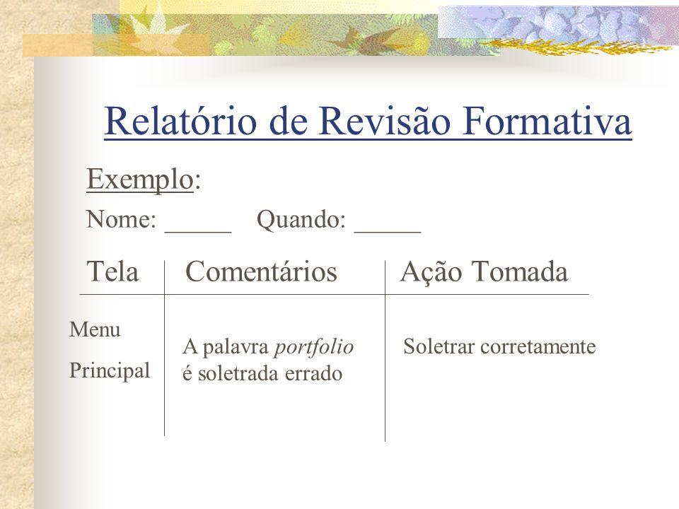 Relatório de Revisão Formativa