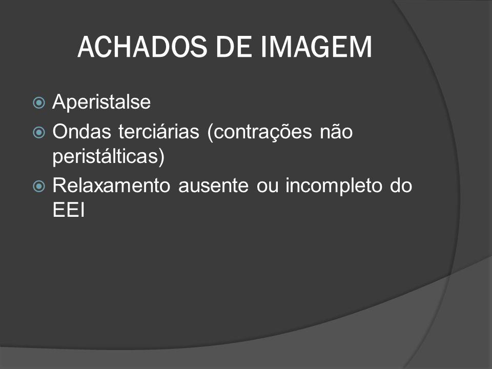 ACHADOS DE IMAGEM Aperistalse