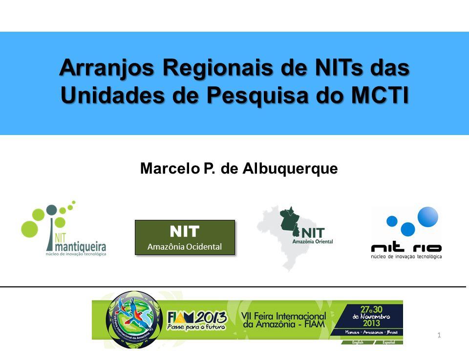 Arranjos Regionais de NITs das Unidades de Pesquisa do MCTI