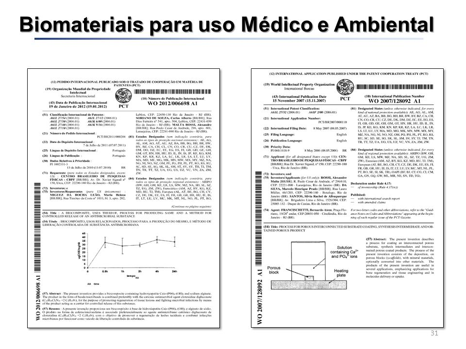 Biomateriais para uso Médico e Ambiental