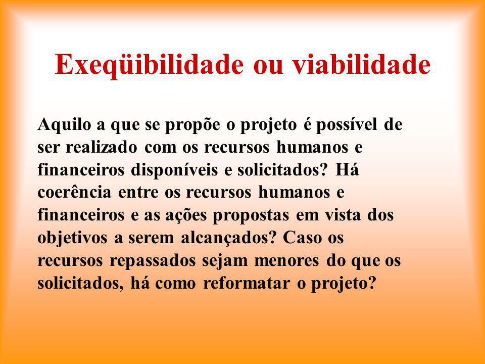 Exeqüibilidade ou viabilidade