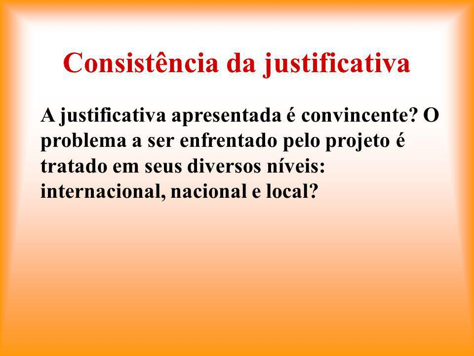 Consistência da justificativa