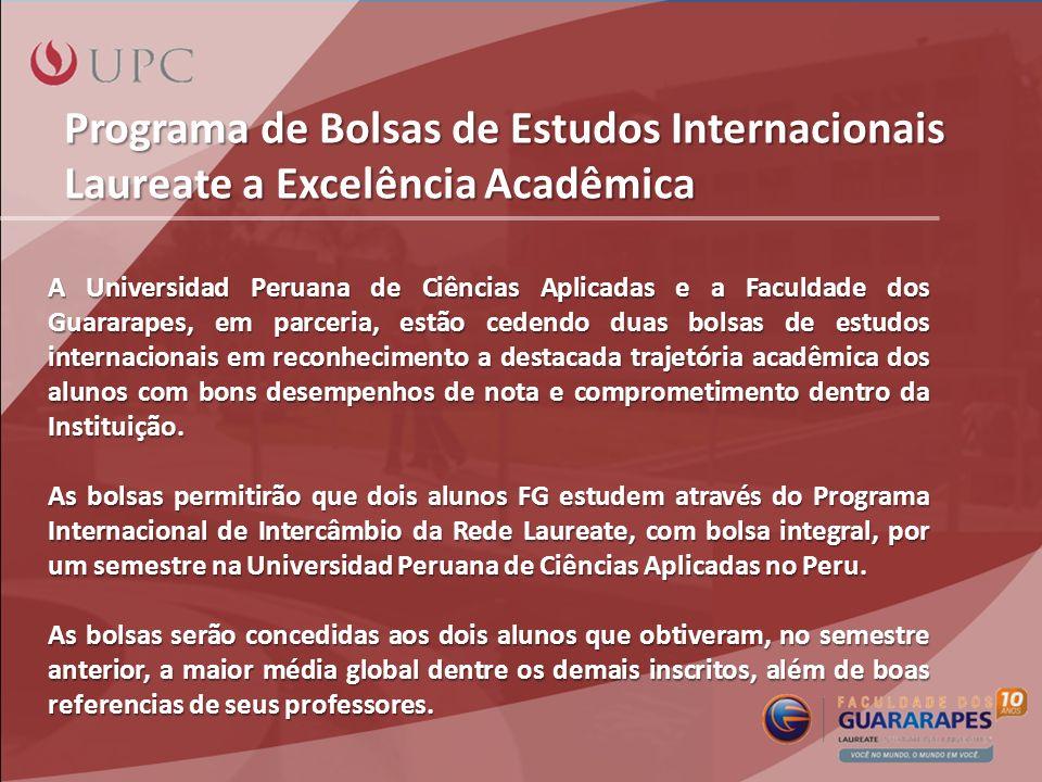 Programa de Bolsas de Estudos Internacionais Laureate a Excelência Acadêmica