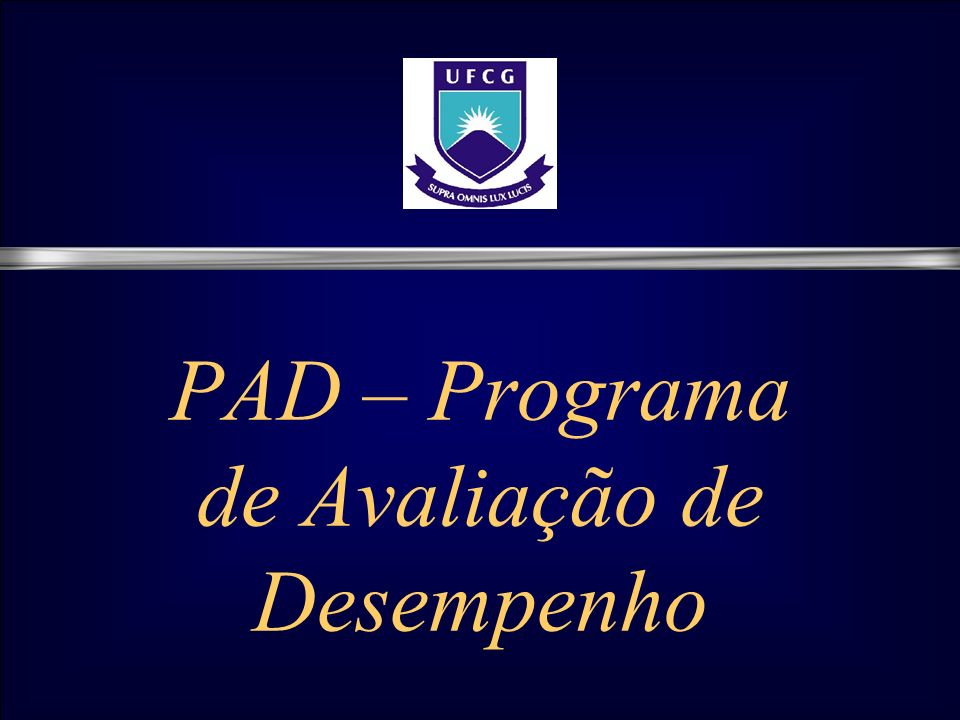 PAD – Programa de Avaliação de Desempenho