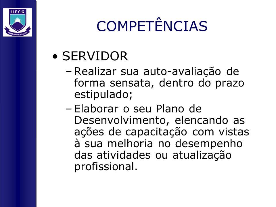 COMPETÊNCIAS SERVIDOR