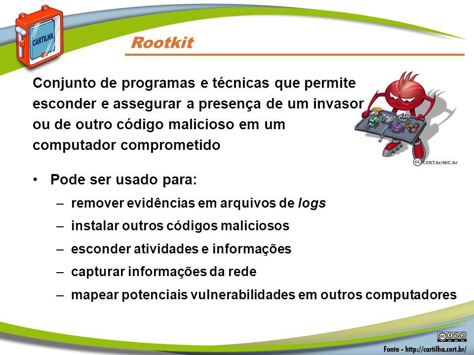 Códigos Maliciosos Rootkit.
