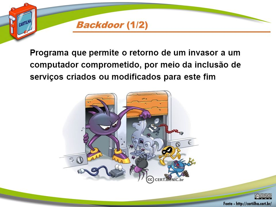 Códigos Maliciosos Backdoor (1/2)