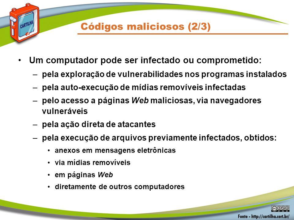 Códigos maliciosos (2/3)