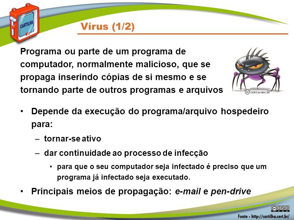 Códigos Maliciosos Vírus (1/2)