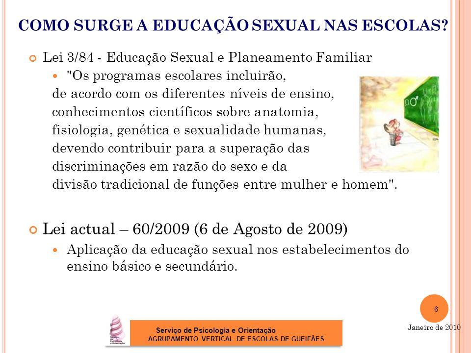 COMO SURGE A EDUCAÇÃO SEXUAL NAS ESCOLAS
