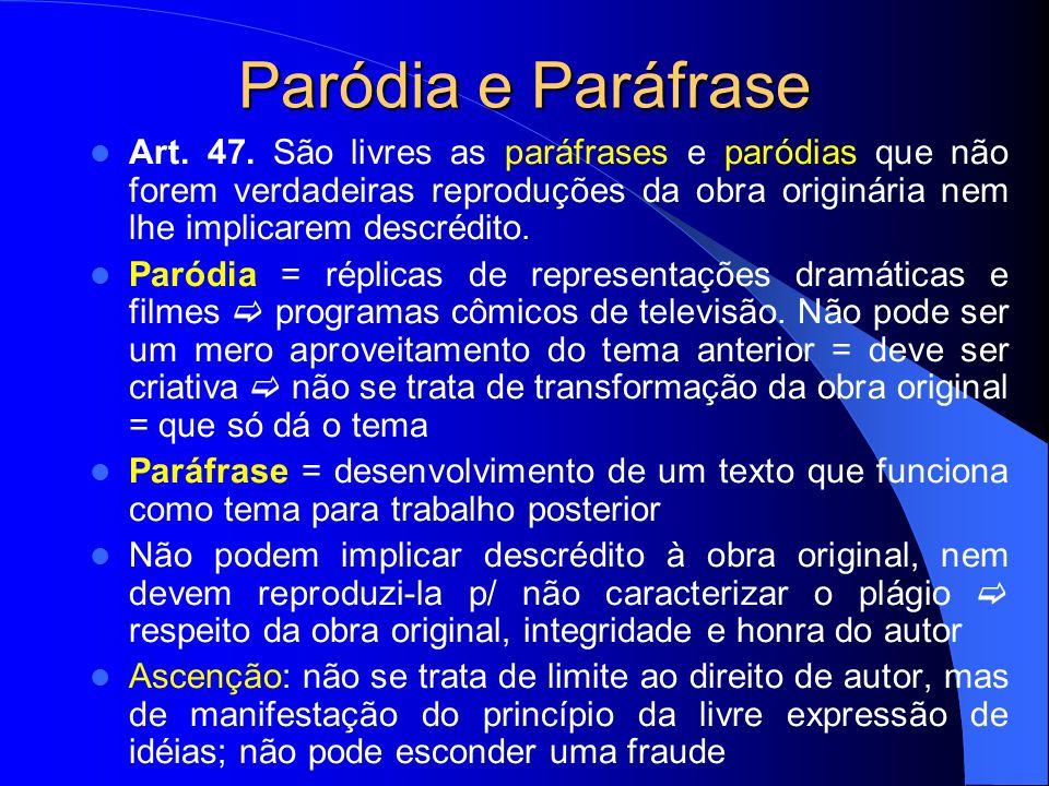 Paródia e Paráfrase